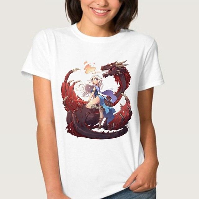 Arya Stark NOT TODAY  Dragons T Shirt Women Streetwear Printing T-shirt Female Top Tee Jon Snow Tshirts