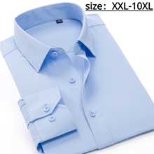 Multiple Colors Large Size 10XL Men's Business Non-iron Long-sleeved Shirt Classic Dress Party Office Stretch Casual White Shirt