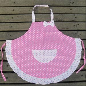 2 слоя Бытовая тряпка для уборки, инструменты фартуки, фартуки, Детские фартуки для выпечки, кухонные повара, оборки в горошек, фартук принцессы