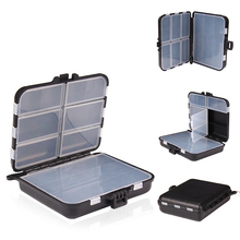 2-Layer Multifunctional Removable Lure Bait Box Fishing Hook Fittings Storage with Interlayer Receiving