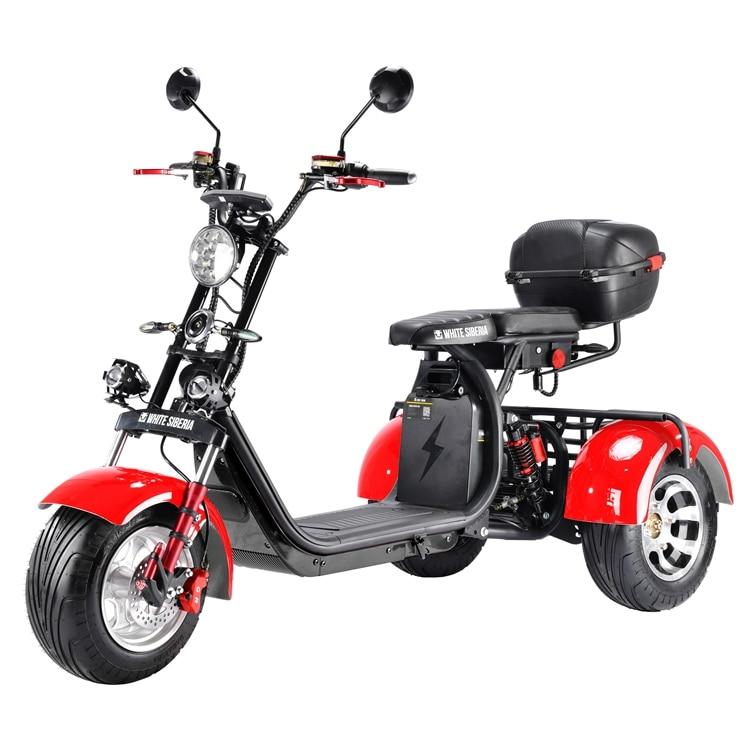 Хорошее качество Бесплатная доставка в Россию с большими шинами 3000w электрический мотоцикл 3-х колесный Pro трехколесного велосипеда Citycoco с з...
