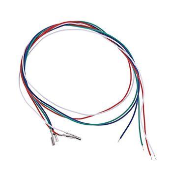 3 4 sztuk uniwersalny wkład Phono przewody kablowe nagłówek przewody do gramofon Phono Headshell akcesoria tanie i dobre opinie ANHTCzyx CN (pochodzenie) 33 45 78 RPM 20202020 plastic+metal 35cm 13 7in 6cm 2 36in