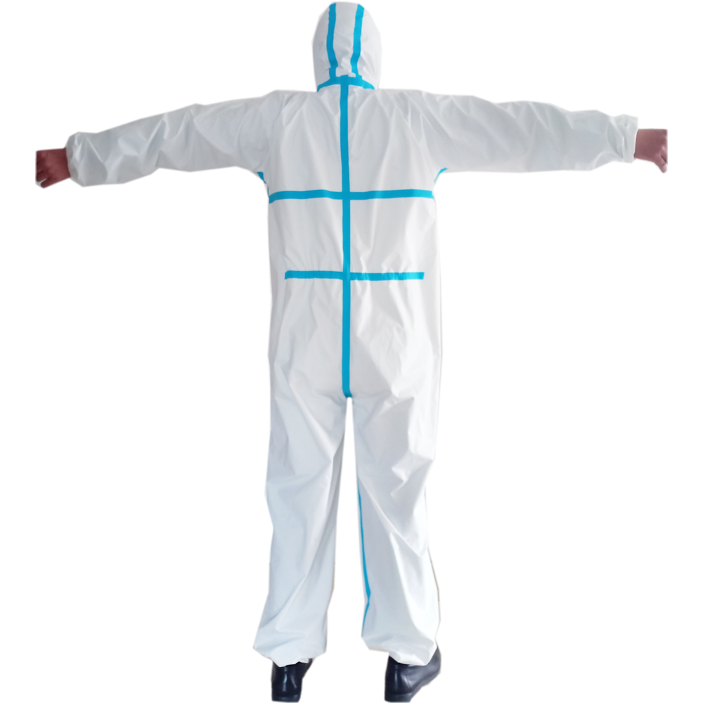 Coverall Disposable Anti Epidemic and Antibacterial Isolation Suit for Prevention from Viruses and Bacteria 3