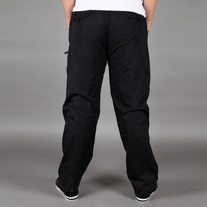 Image 4 - Зимние Бархатные утепленные штаны, хлопковые свободные прямые штаны большого размера со множеством карманов для инструментов