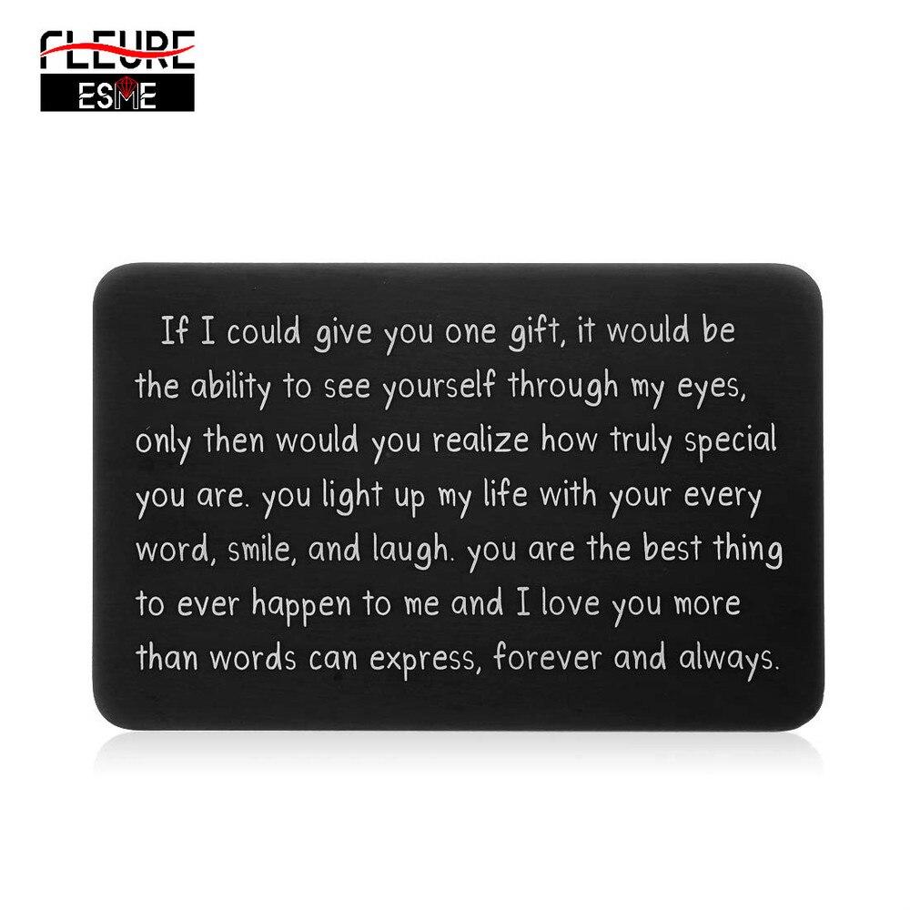 Presentes de cartão de inserção carteira para ele homens marido namorados da esposa namorada namorado aniversário presente para noivo