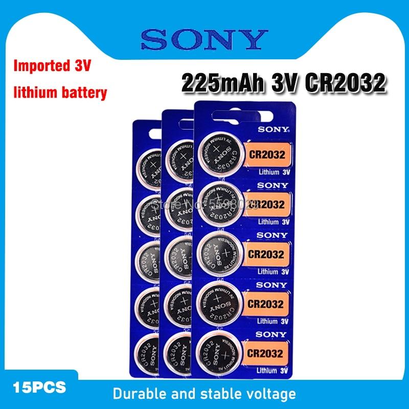 Оригинальный кнопочный аккумулятор SONY CR2032 3 в, литиевые батареи CR 2032 для часов, пультов дистанционного управления игрушками, компьютеров, ка...