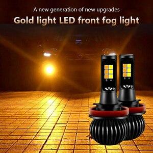 Image 2 - CARCTR Luz antiniebla Led H7 para coche, Luz antiniebla H1 H3 H8 H11 880, luz amarilla blanca, dos colores, 9005 faros modificados