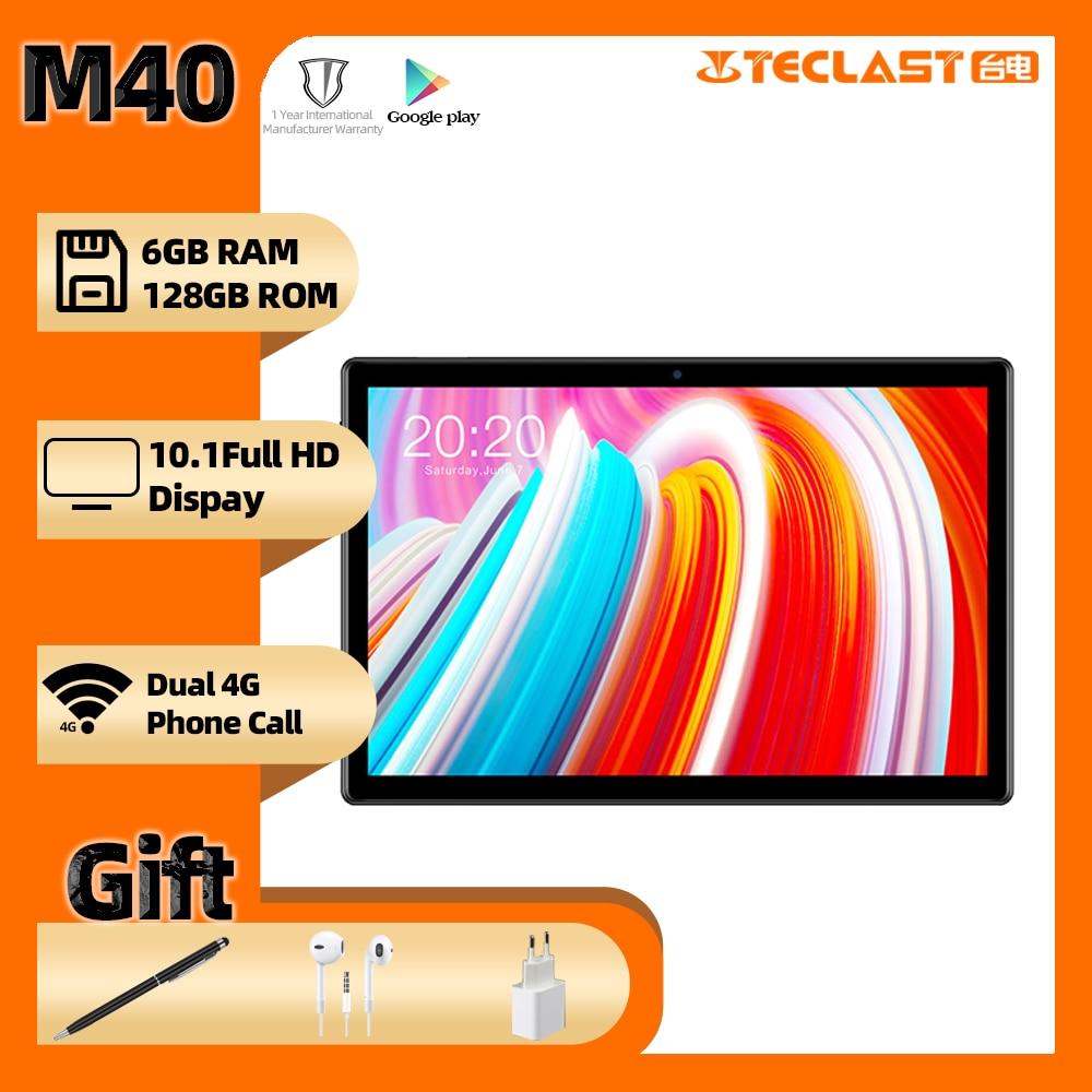 Teclast M40 Android10.0 планшет 10,1 дюймов 6 ГБ Оперативная память 128 Гб Встроенная память 8MP Камера Dual Core 4G Телефонный звонок Bluetooth5.0 планшетный ПК