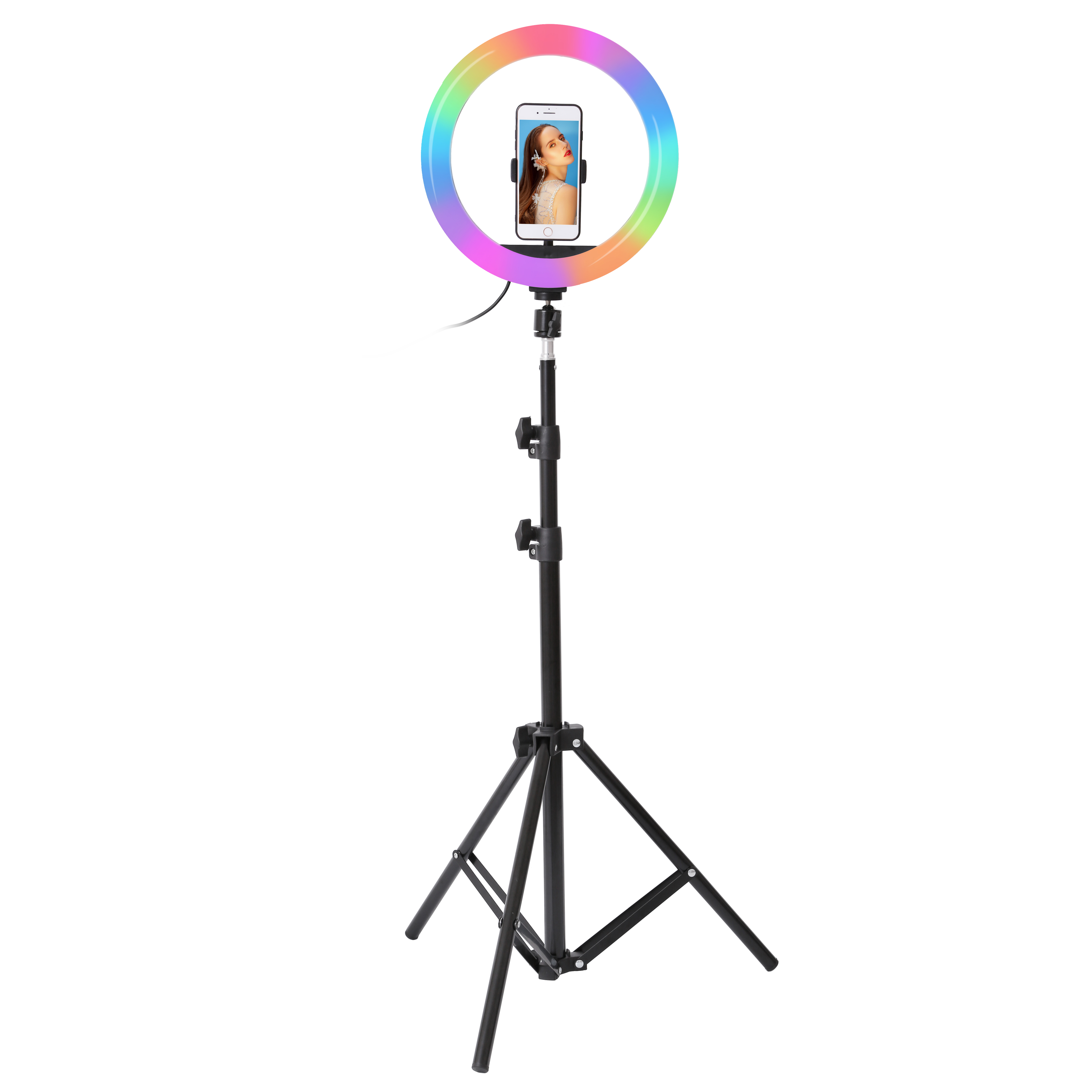 26cm 33cm RGB Selfie Ring LED Light with Stand Tripod Photography Studio Ring Lamps for Phone 26cm 33cm RGB Selfie Ring LED Light with Stand Tripod Photography Studio Ring Lamps for Phone TikTok Youtube Makeup Video Vlog