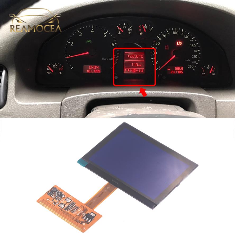 Reamocea Fit For Audi A3 A6 C5 TT 8N S6 C5 4B Series 2001-2003 LCD Dash Dashboard Repair Replacement VDO LCD Display Screen