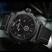 Top Luxe Merk Mannen Sport Militaire Quartz Horloge Man Analog Datum Klok Lederen Band Polshorloge Relogio Masculino