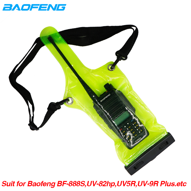 IP67 Waterproof Bag Case Pouch For Motorola Kenwood Baofeng UV-5R UV-82 UV82 UV-9R Plus BF-888S Walkie Talkie Rainproof Bag