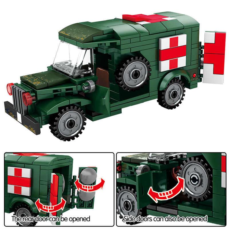 Bausteine Blocks Krieg Krankenwagen Armee Figur Spielzeug Modell Geschenk 368PCS