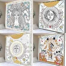 Sun god sun goddess polyester printing tapestry scene layout hanging cloth wall decoration cloth beach towel janeyu new cosmos star velvet multifunctional polyester tapestry hanging beach towel