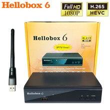 Neue Hellobox 6 Satellite Receiver Unterstützung H.265 HEVC T2MI USB WiFi Auto Powervu Biss Cline Newcamd Comptatible V5 Plus