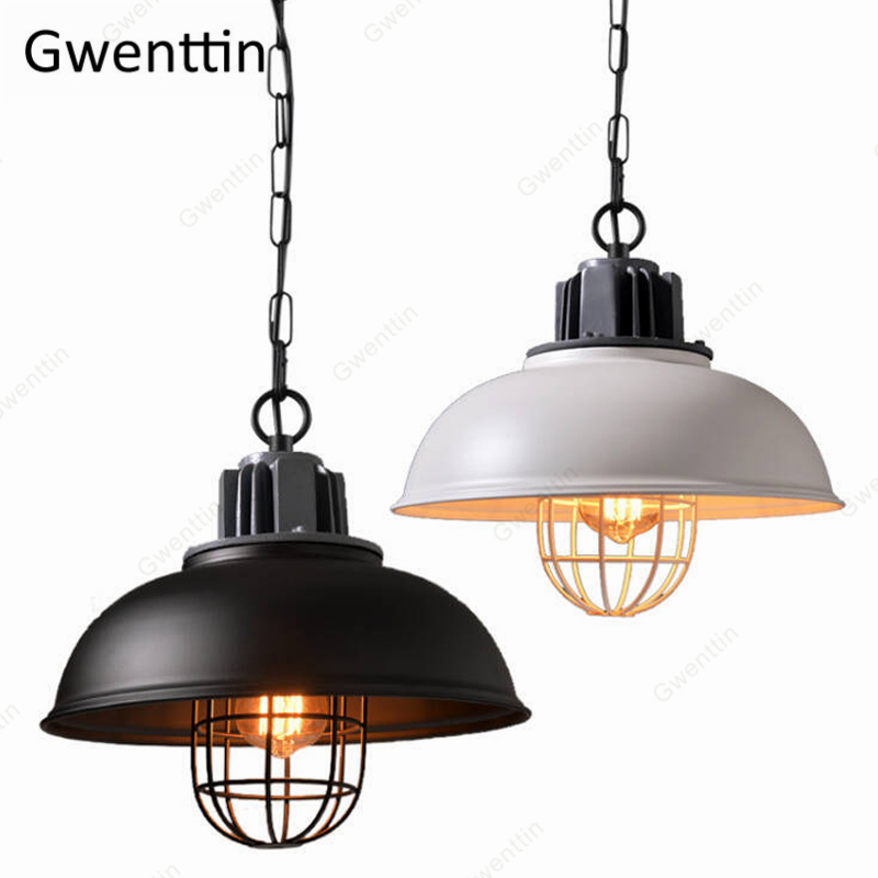 Iron Cafe Pendant Light Retro Loft Industrial Hanging Lamp for Bedroom Living Room Home Deco Modern Led Light Fixtures Luminaire|Pendant Lights| |  - title=