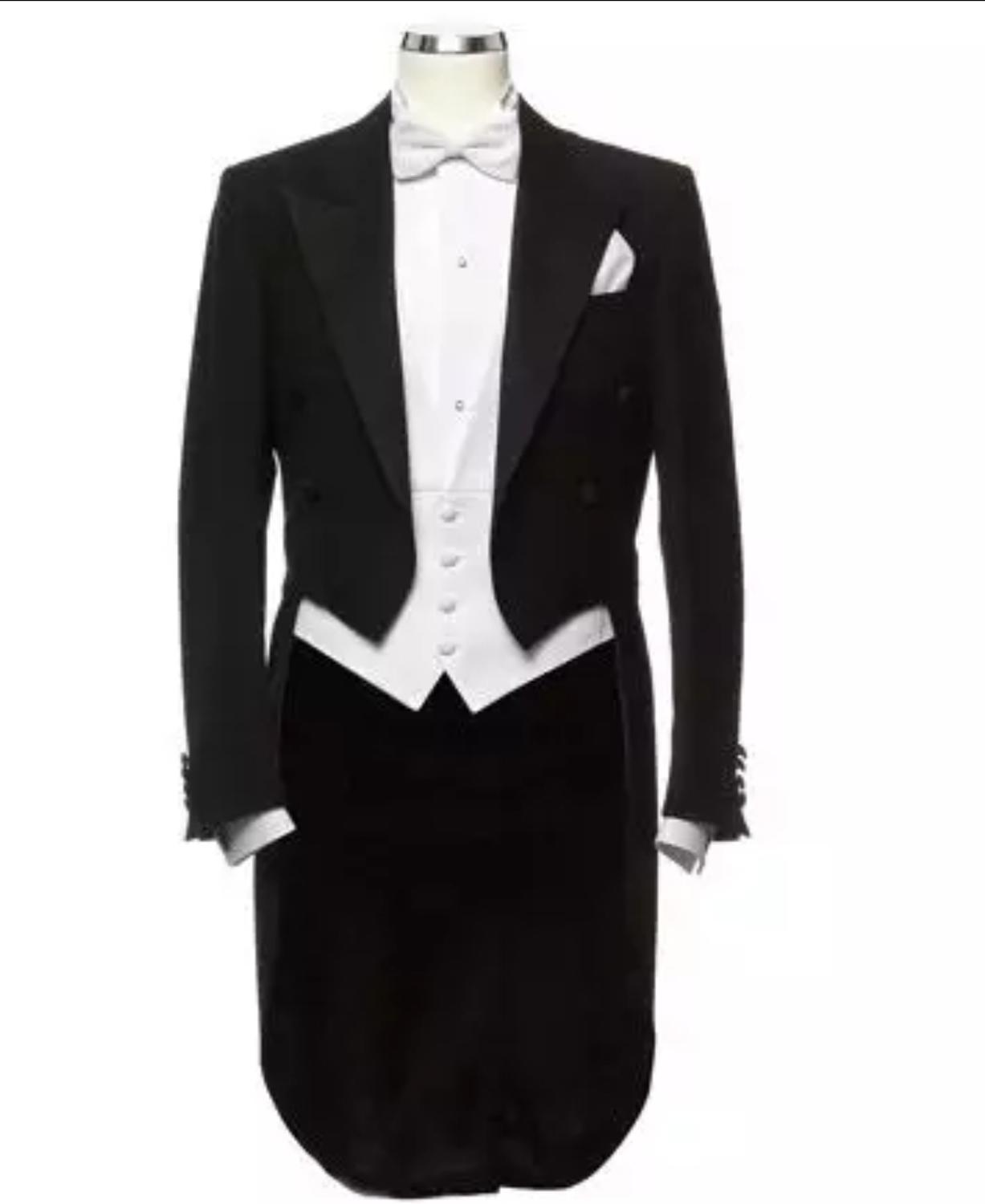 2020 Cloudstyle Men's Tailcoat Formal Ment Suit Slim Fit 3-Piece Suit Dinner Jacket  Wedding Suit Male Swallow-Tailed Coat