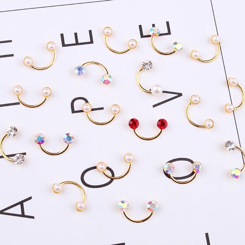 Купить 10 шт ногтей 3d искусство дизайн аксессуары позолота пустотелое
