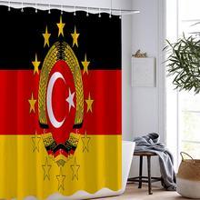 Занавеска для душа с национальным флагом мультяшная занавеска
