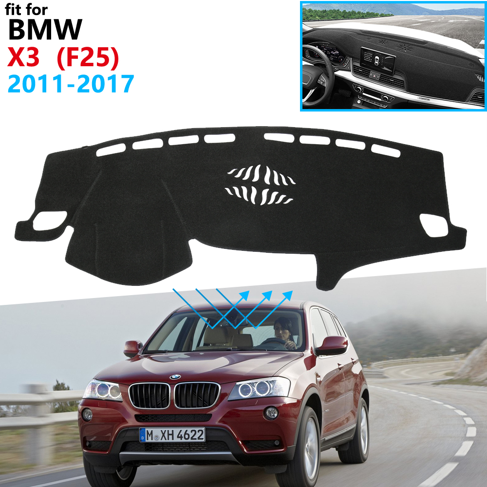 Dashboard Cover Protective Pad for <font><b>BMW</b></font> <font><b>X3</b></font> F25 2011 2012 2013 2014 2015 2016 <font><b>2017</b></font> <font><b>Accessories</b></font> Dash Board Sunshade Anti-UV Carpet image