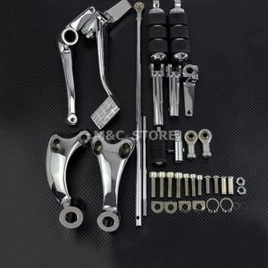 Черный Chrome Forward Controls Полный комплект Колышки, рычаги и рычаги для Harley Sportster 883 1200 XL 48 72 Iron Custom Nightster Roadster 2004-2007 2008 2009 2010 2011 2012 2013