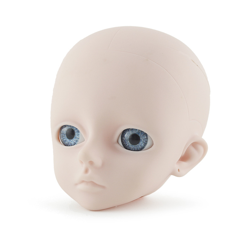 <font><b>BJD</b></font> Doll <font><b>1/3</b></font> Head for 60cm Doll, No Makeup or With Makeup Girl Toys for Kids Ball Jointed Doll Only Head image