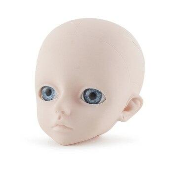BJD 人形 1/3 用 60 センチメートル人形、いいえメイクまたはメイク女の子のおもちゃ子供のための球体関節人形ヘッドのみ