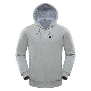New Winter Man USB Charging Heated Coat Hoodie Heating Jacket Soft Lightweight Heated Hooded Coat Unisex 2019
