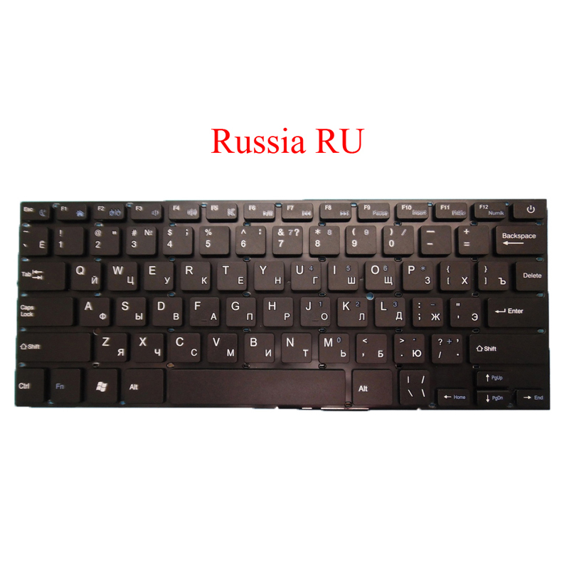 Laptop Keyboard Yxt-nb92-08 02800d 34280b048 Prtde-k3049 Scdy-277-3-9 Pride-k2500 Yt-277-16-01 K2878 Rússia Inglês ru Eua Dk280