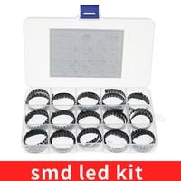750 uds/lote LED SMD 0603 Kit de 0805 de 1206/Rojo/verde/azul/blanco/diodo de led amarillo 5 colores cada 50 Uds