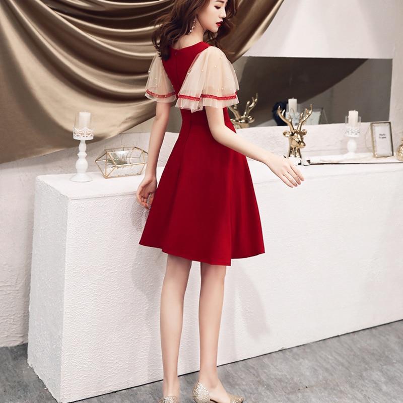 Vestidos Para Bautizo For Girls Gengli Toast Bride 2020 Autumn Modern Engagement Wedding Dress Small Back Casual Wear Usually