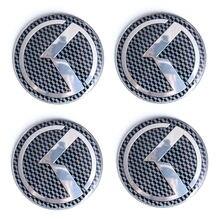 Autocollant enjoliveur de roue en Fiber de carbone avec Logo K, 60MM, pour KIA K5 Stinger Forte Optima Rio, accessoires de voiture