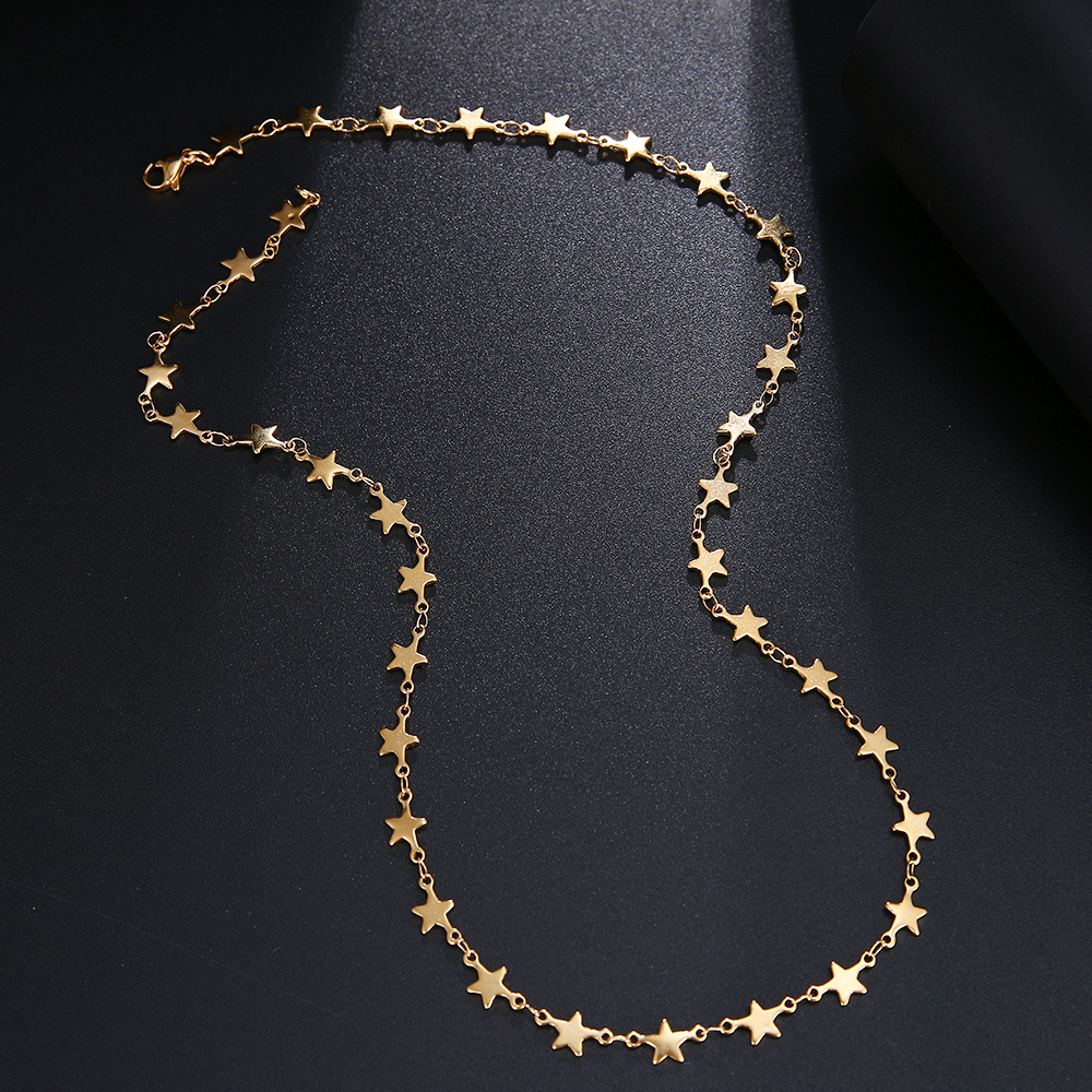 CACANA Stainless Steel Chain Necklace For Man Women Gold Silver Color For Pendant Pentagram Donot Fade Jewelry N1926 3