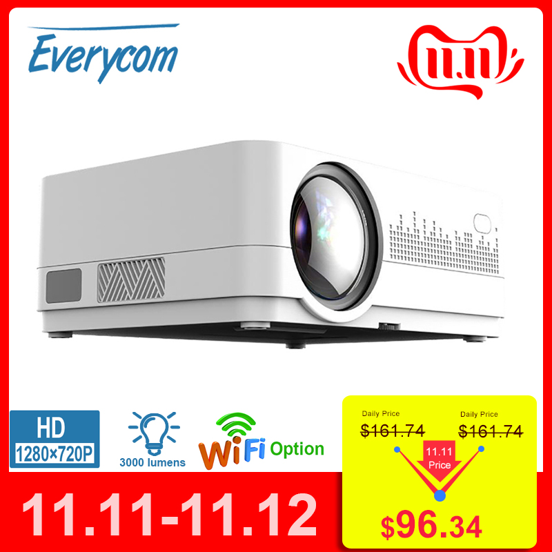 Newest HQ3 WiFi Projector Video Projecteur Everycom HQ2 3000 Lumi HD 1280*720P LED Home Theater Movie Beamer Proyector Portatil-in LCD Projectors from Consumer Electronics