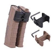 Connecteur parallèle de chargeur de pistolet tactique pour AK/M4/PMAG/M16, porte-Clip millitaire Double Mag, accessoires de chasse Airsoft