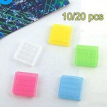 10 قطعة/20 قطعة البلاستيك حالة حامل المحمولة بطارية تخزين مربع غطاء ل 4x AA AAA بطارية مربع الحاويات حقيبة المنظم