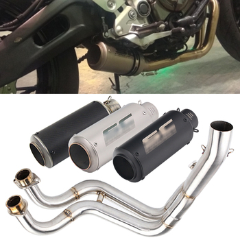 Full System Motorcycle Exhaust Modified Escape Middle Link Pipe For YAMAHA MT-07 FZ-07 MT07 FZ07 2013 2014 2015 2016 2017 Years