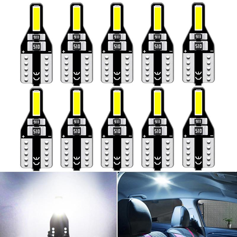 10Pcs T10 Led W5W Led Bulbs 168 194 Car Interior Lights Dome Reading Light For Mercedes Benz W124 W212 W204 W212 W203 W211