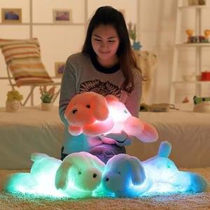 Night-Light Plush-Toys Dog-Pillow Stuffed Animal Big Creative Children Lovely Gift Girl's