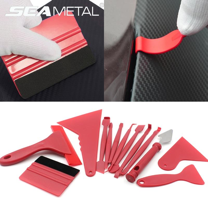 7/13pcs Car Vinyl Film Wrapping Tools Car Sticker Film Scraper Kit Auto Felt Squeegee Scraper Set Knife Decal Plaste Accessories(China)