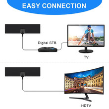 25 mijl HD 25DB High Gain HD TV DTV Box EU Plug Booster Actieve Indoor Digitale TV Antenne Antenne(China)