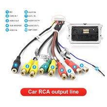 Podofo araba Stereo alıcısı radyo RCA çıkış kablosu aux-in adaptör kablosu araba hattı adaptörü Subwoofer mikrofon adaptörü kablo