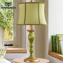 Chinese Classical Lamp Art Deco Table Lamp Retro Modern Fabric Resin Home Decor Bedside Lamp Reading Table Lights Bedroom Lamp