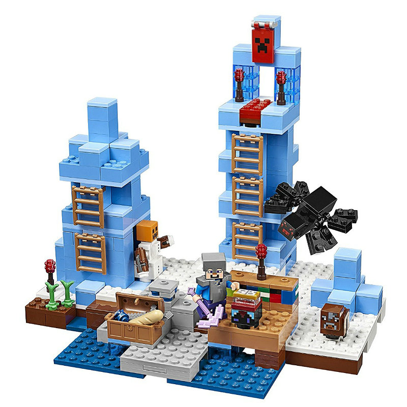The Ice Spilkes Building Blocks With Steve Action Figures Compatible LegoINGlys MinecraftINGlys Sets Toys For Children 21131 9
