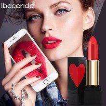 5 Color New Matte Lipstick Nude Lips Batom Waterproof Long Lasting Lip Stick Heart Shape Design Professional Makeup Cosmetic