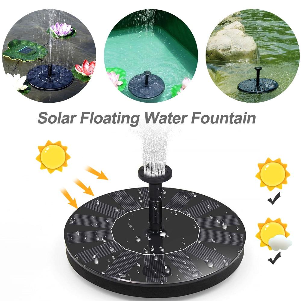 7V Solar Power Fountain Brushless Water   For Garden Pool Submersible Birdbath Fountain 7  Pump Solar Garden Fountains