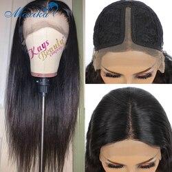 Koronkowa peruka z prostymi włosami 13x1 30 Cal ludzki włos peruka Remy 150% peruka brazylijska peruka 100% ludzki włos peruka