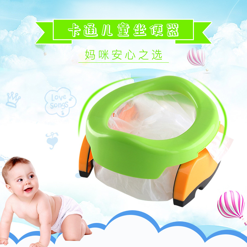 Large Size Children Sitting Stool Men And Women Baby Infant Small Chamber Pot Car Mounted Toilet Kids Potty Folding Portable