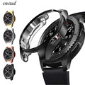 Чехол для samsung Galaxy watch, чехол с покрытием из ТПУ для экрана 46 мм/42 мм, чехол-бампер S 3 42/46 мм, Gear S3 Frontier band