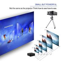 Mini Projector E05 Android 4.4 Quad Core CPU WIFI TV Box HD LED DLP Multimedia Projectors 1GB RAM 8GB ROM 3 Colors